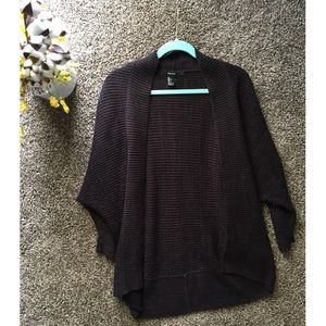 Black/Brown Knitted Cardigan